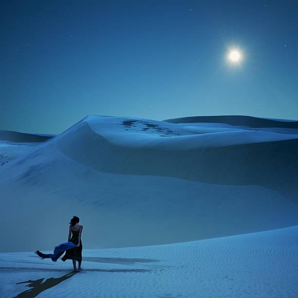 Full moon is calling stock photo