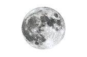 istock Full Moon isolated on white 514570802