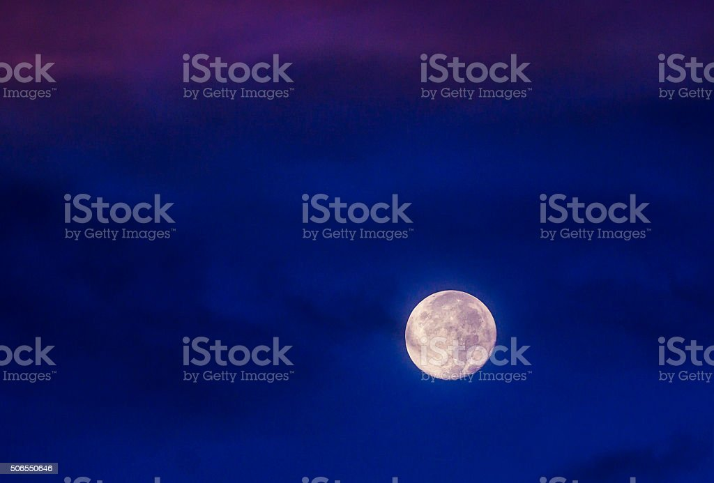 Full Moon Morning royalty-free stock photo
