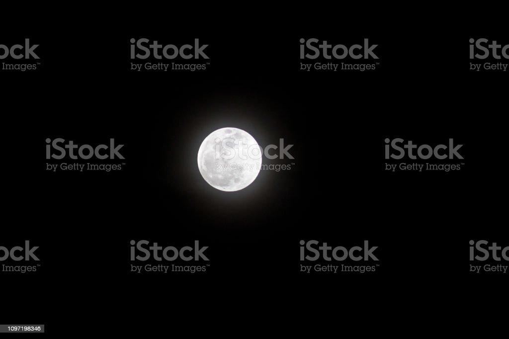 Full Moon - No Blood Yet stock photo