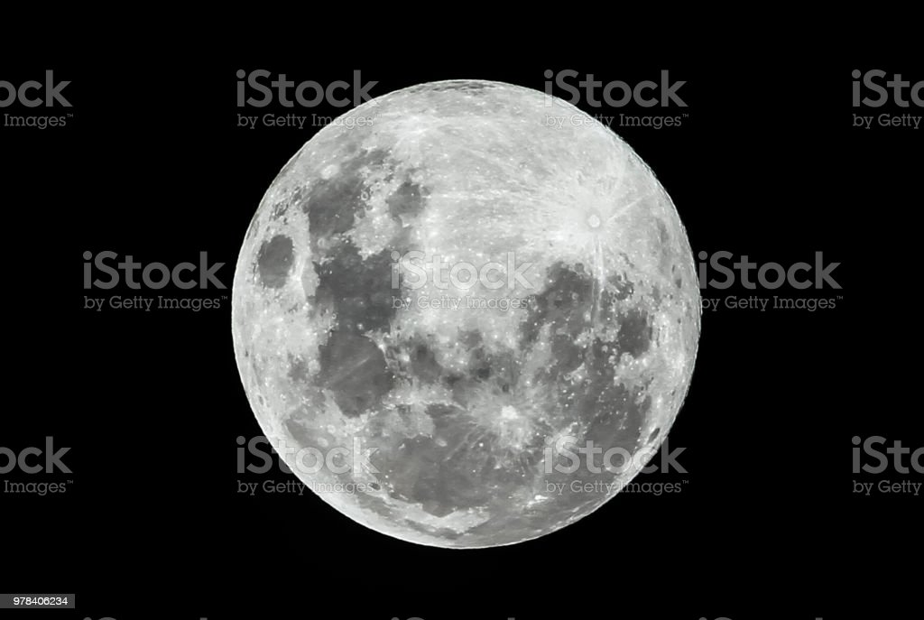 Full Moon on a Clear Night stock photo
