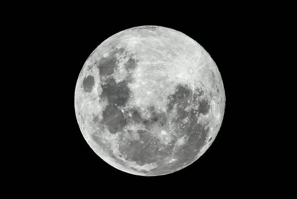 full moon on a clear night - moon stock pictures, royalty-free photos & images