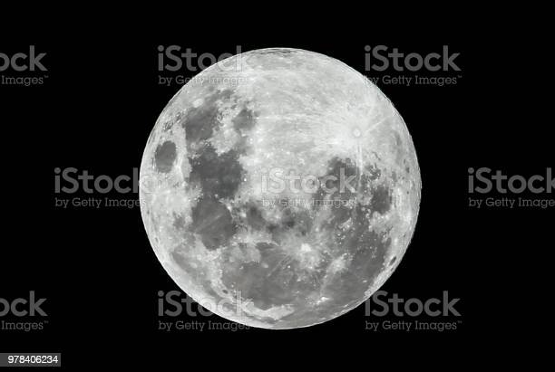 Photo of Full Moon on a Clear Night