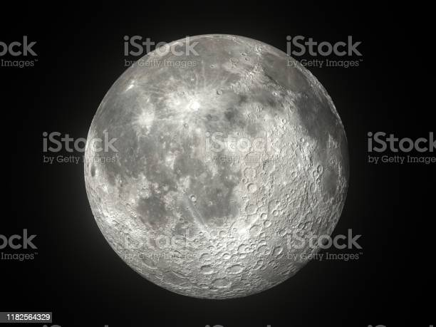 Photo of Full Moon on a Clear Night stock photo