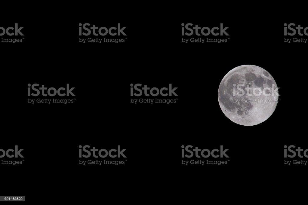 Vollmond am schwarzen Hintergrund Lizenzfreies stock-foto