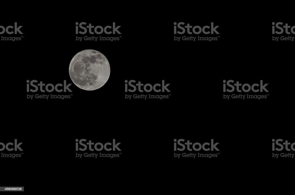 Full Moon on Black Sky stock photo