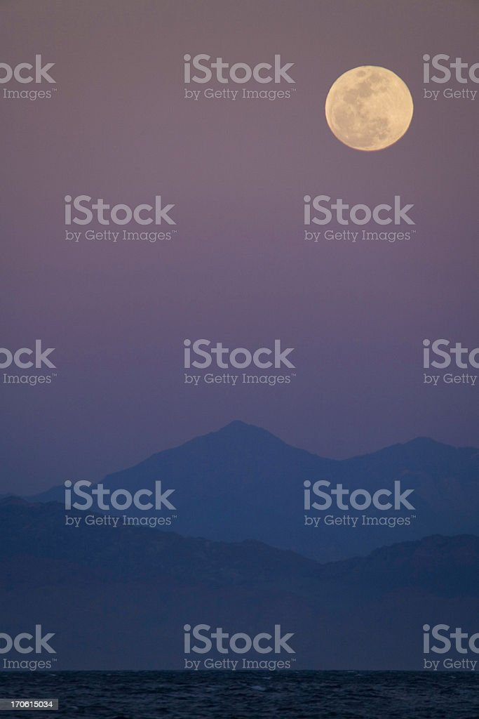 full moon on purple sky royalty-free stock photo