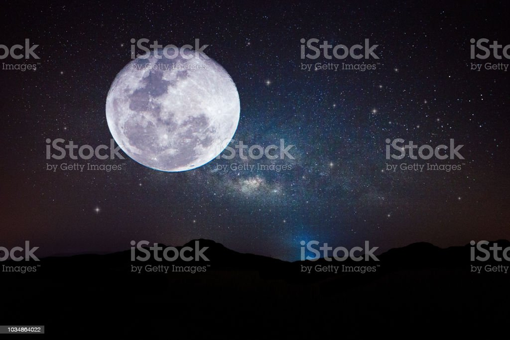 Full Moon or Super moon / The Moon is the fifth-largest natural...