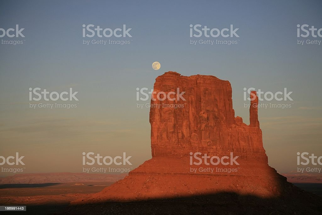 Full Moon over Monument Valley royalty-free stock photo