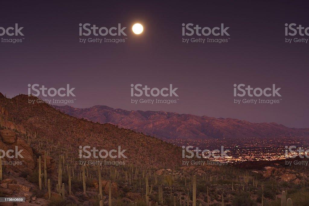 Full Moon over Tucson royalty-free stock photo