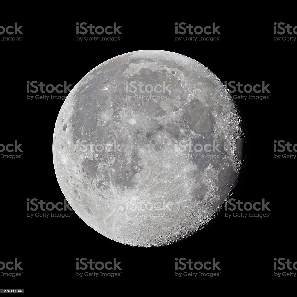 Full moon (99,3%) stock photo