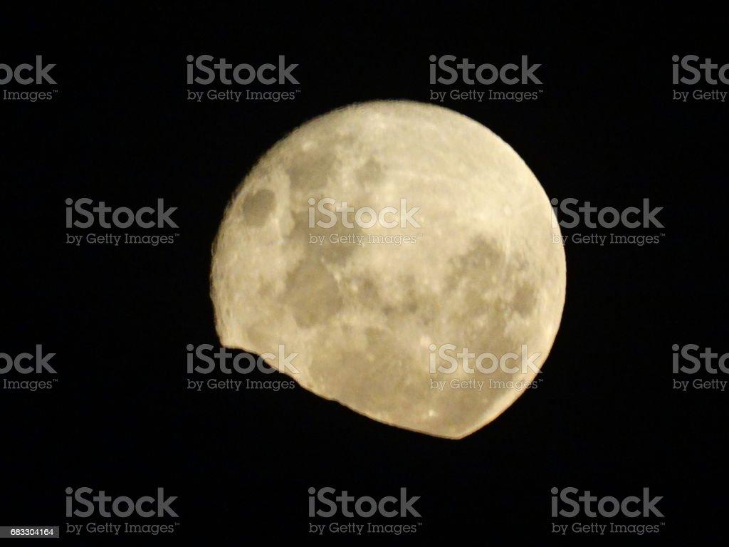 Full Moon rising at mount Andes in Santiago, Chile royaltyfri bildbanksbilder