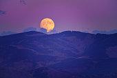 Full Moon Rising Vail Colorado