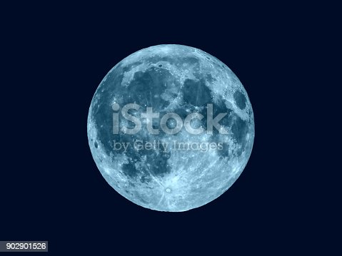Full moon seen with an astronomical telescope