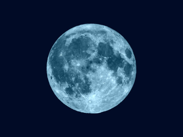 full moon seen with telescope - moon stock pictures, royalty-free photos & images