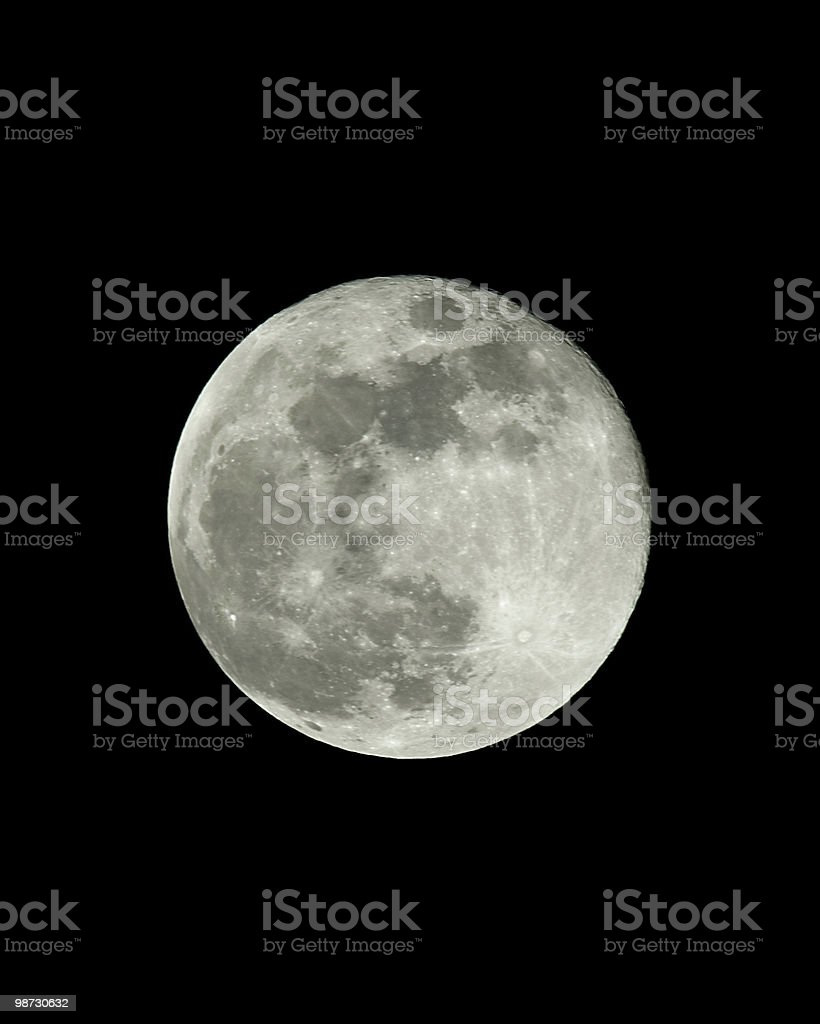Full Moon showing crater details of the lunar surface royalty-free stock photo