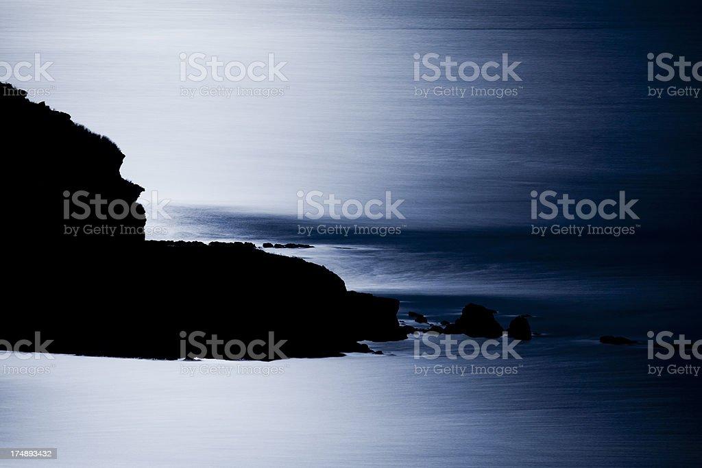 Full Moon's light on sea royalty-free stock photo