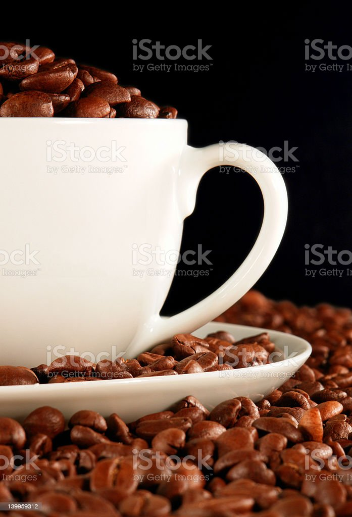 Full of beans royalty-free stock photo