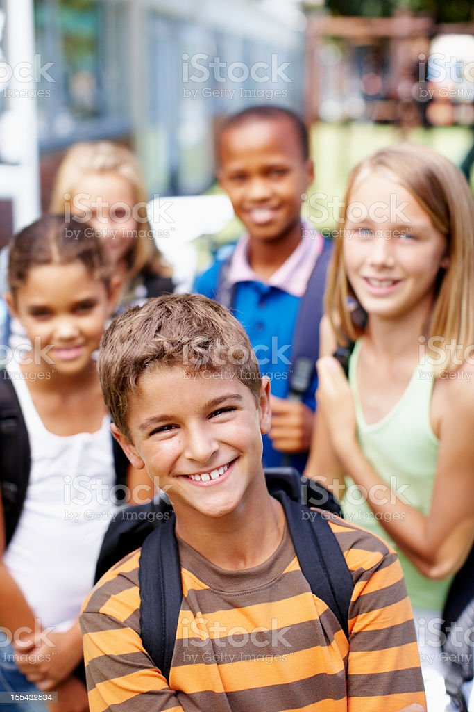 Full of confidence with great friends stock photo
