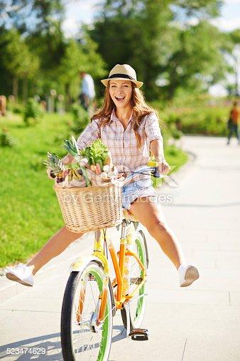 A beautiful young woman having fun while riding her bicycle on a sunny dayhttp://www.azarubaika.com/iStockphoto/2014_06_22_City_Bike.jpg