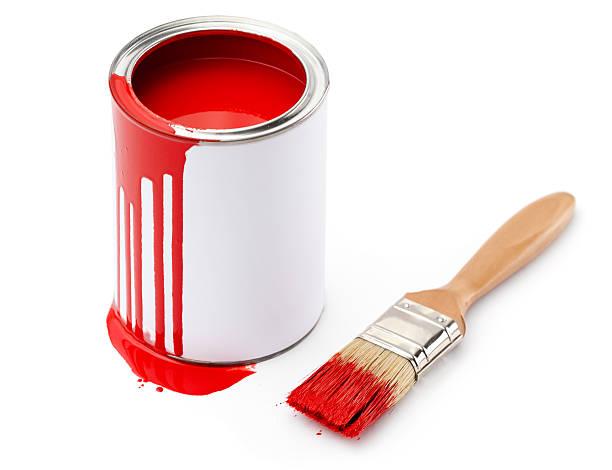 Pot peinture fond blanc photos et images libres de droits istock - Pot de peinture prix ...