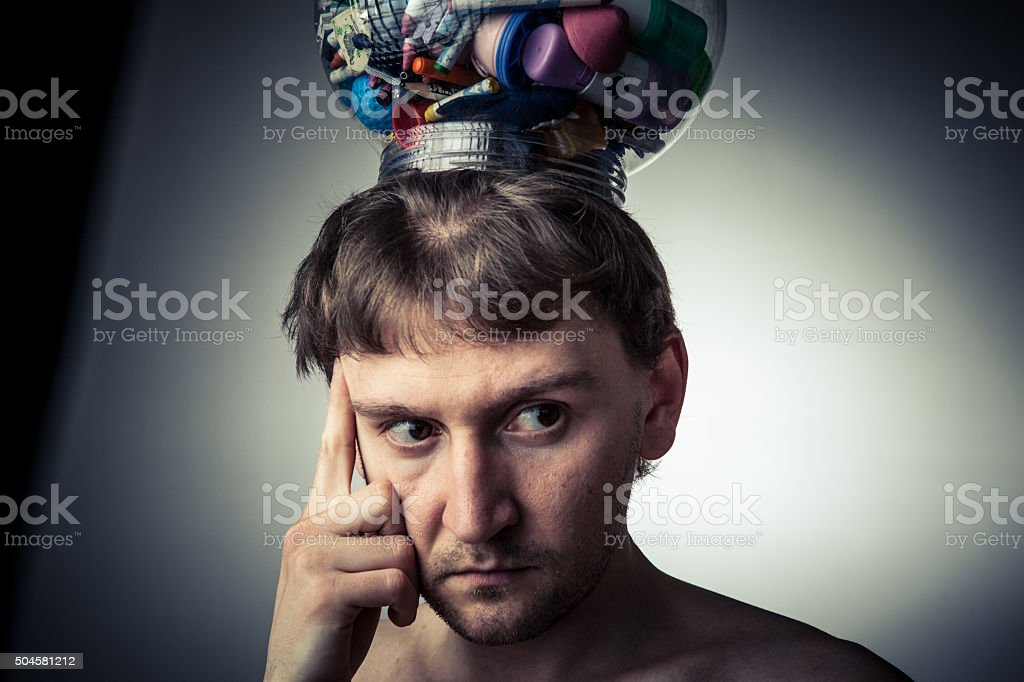 Full of thoughts stock photo