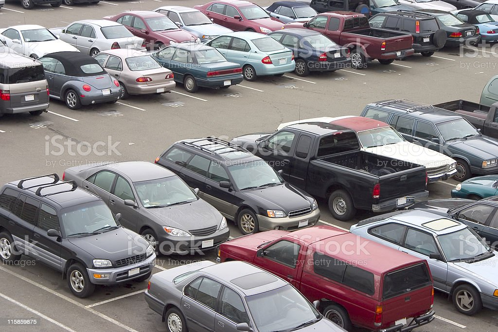 Full Parking Lot stock photo