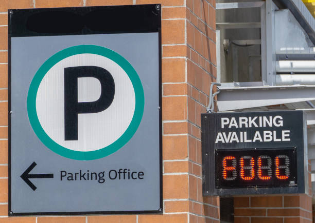 Full Parking Sign stock photo