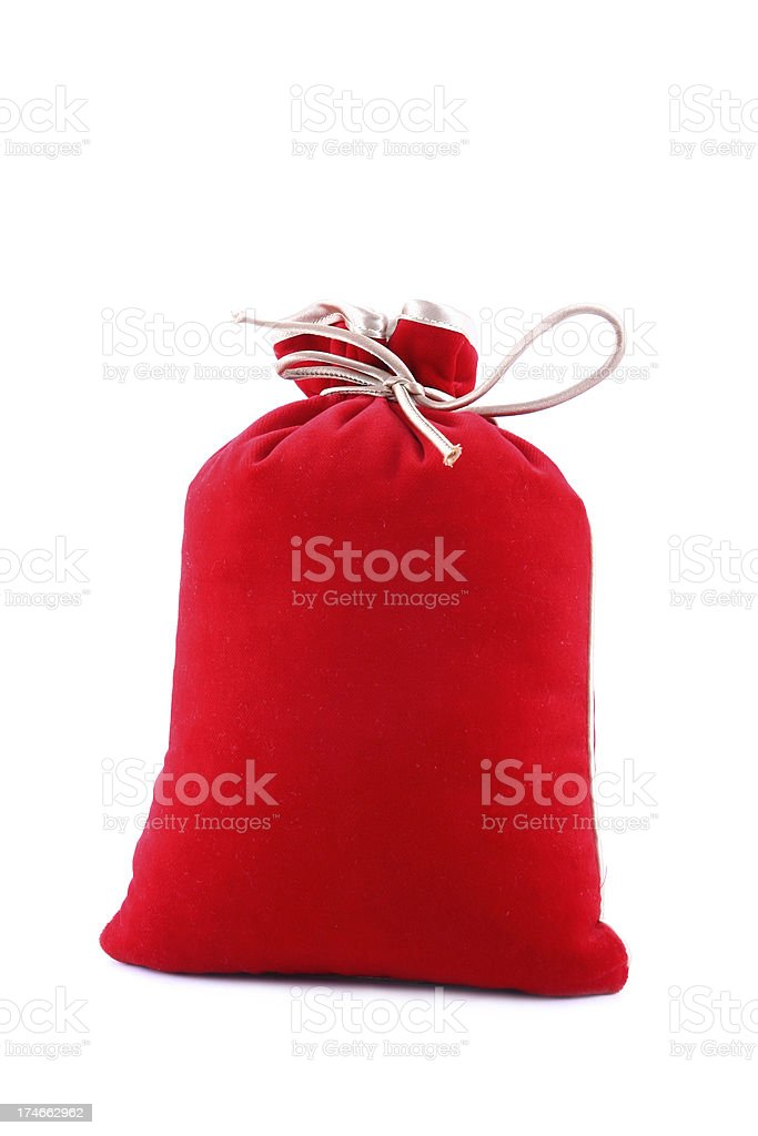Full red bag royalty-free stock photo