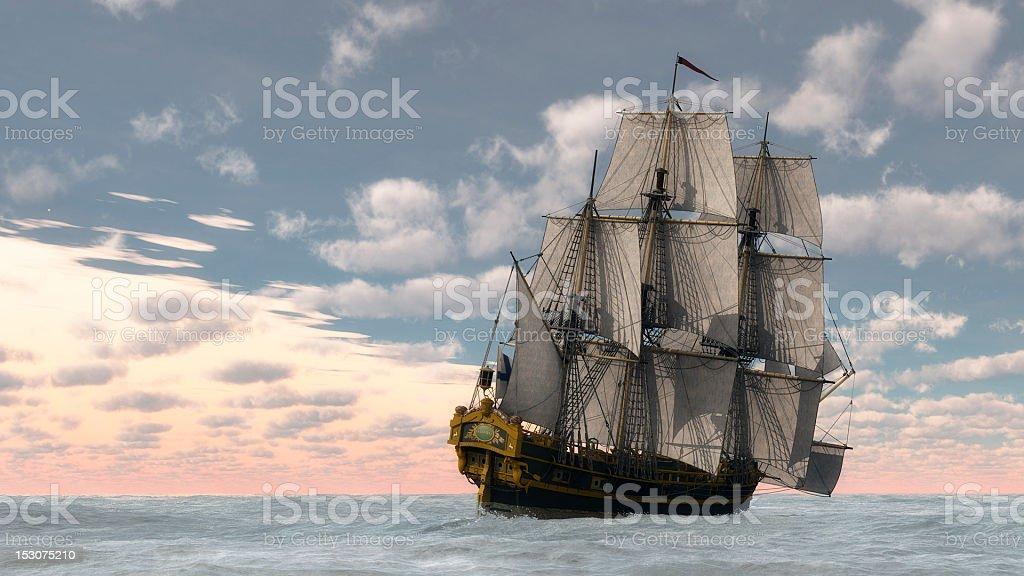 Full sail stock photo