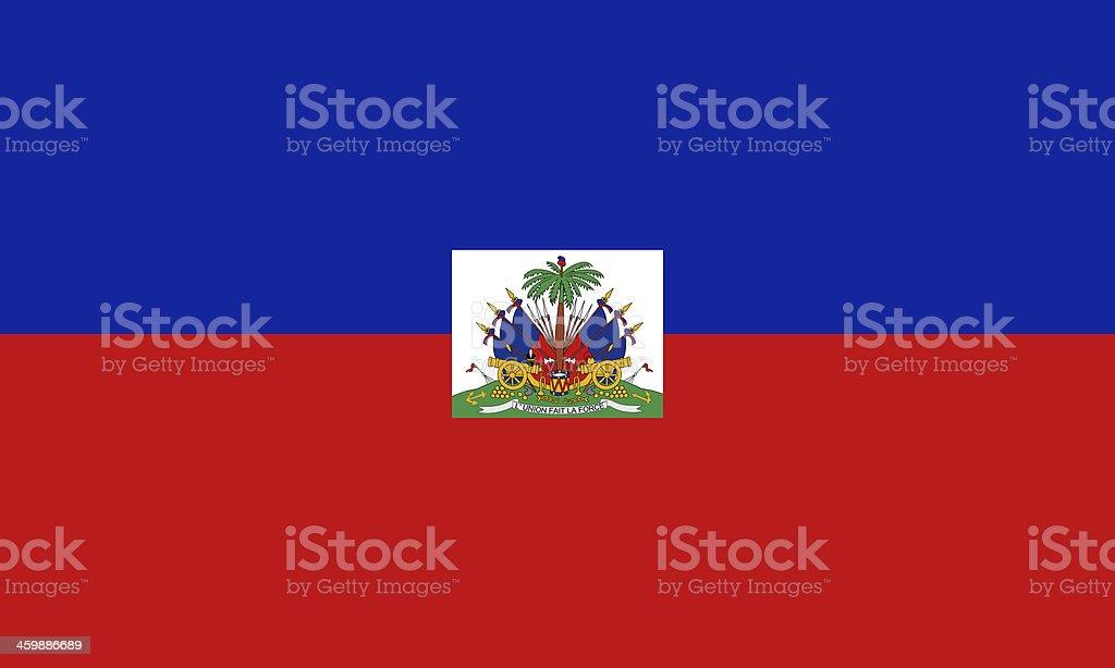 Full screen photo of Haitian flag stock photo