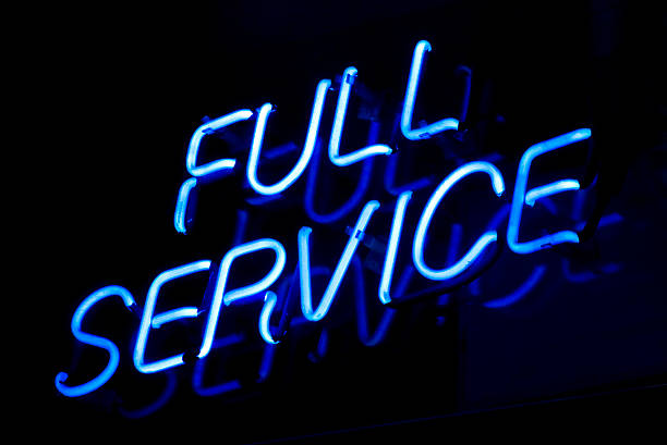 full service sign - full stock photos and pictures