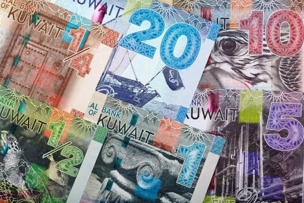 Voller Satz kuwaitisches Geld, ein Hintergrund – Foto