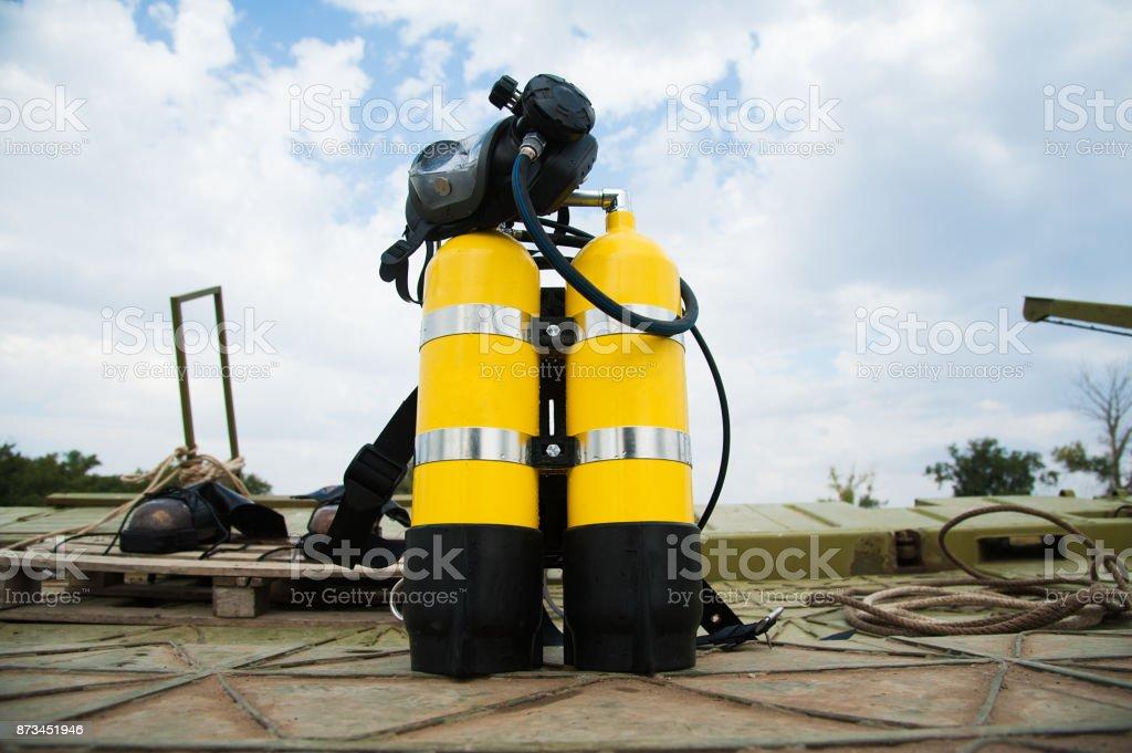 Conjunto completo de equipamento de mergulho - foto de acervo