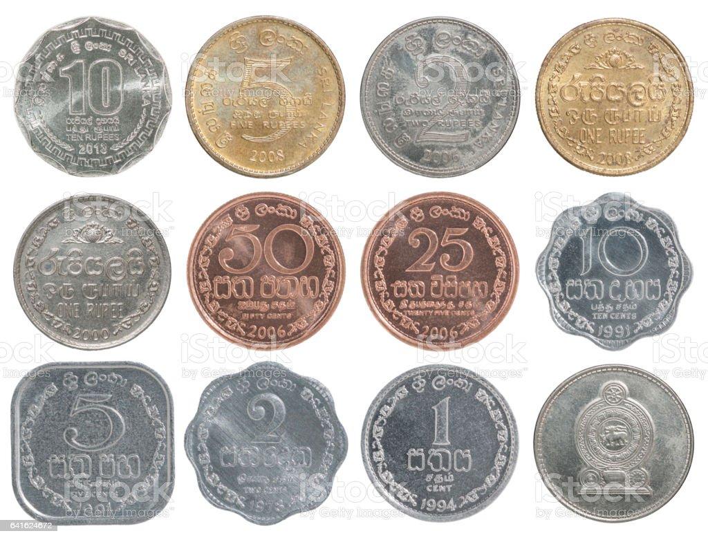 Full set of Sri Lanka coin stock photo
