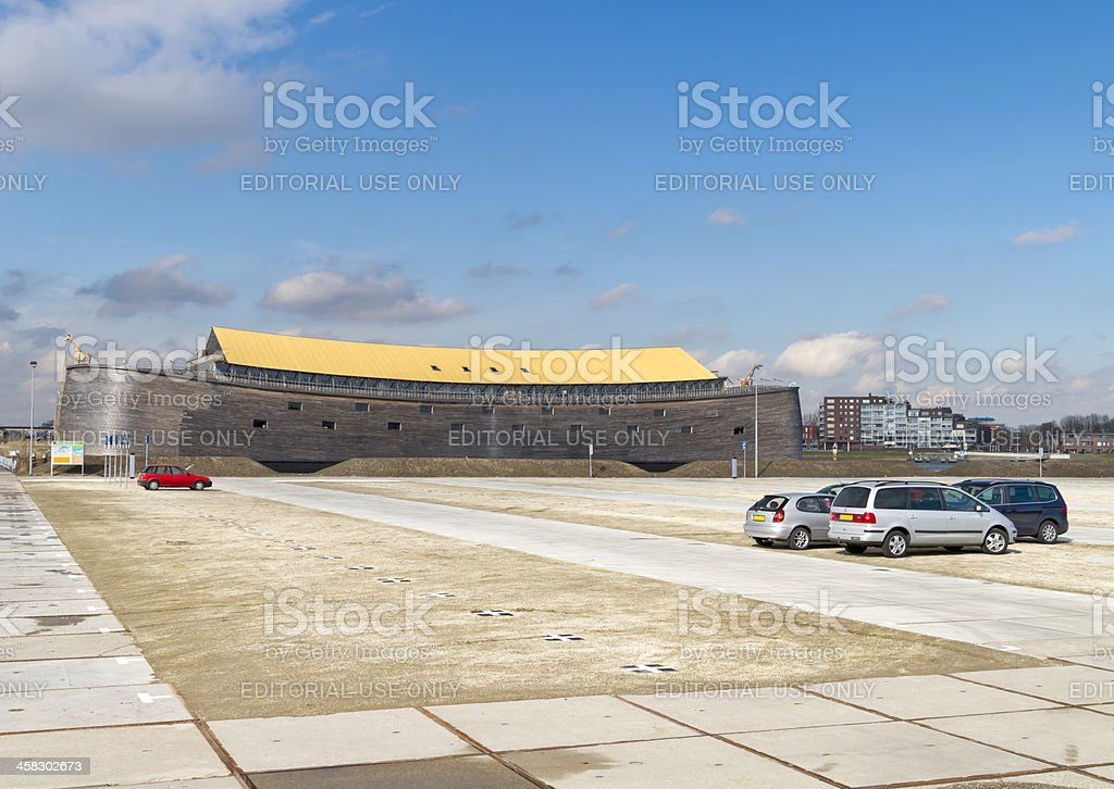 Full size replica of Noah's Ark stock photo