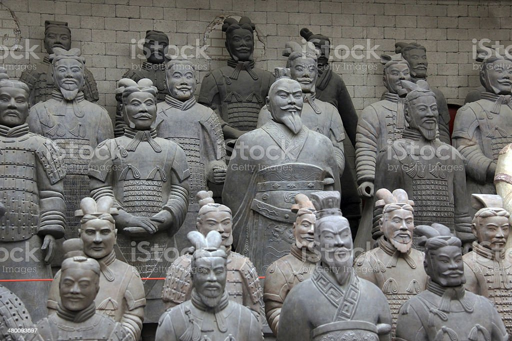 Full Size Terra Cotta Warrior Souvenirs In Xian China stock photo