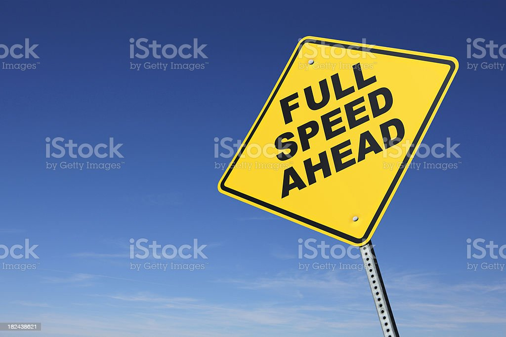Full Speed Ahead royalty-free stock photo