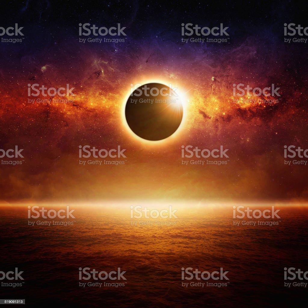 Full sun eclipce stock photo