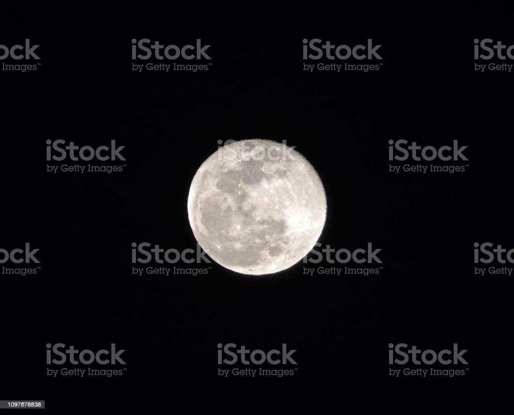 Full moon over southern california