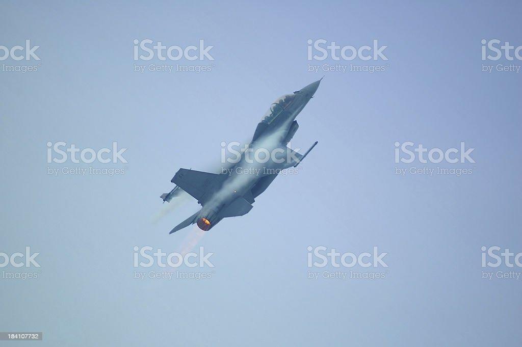 F16 full throttle stock photo