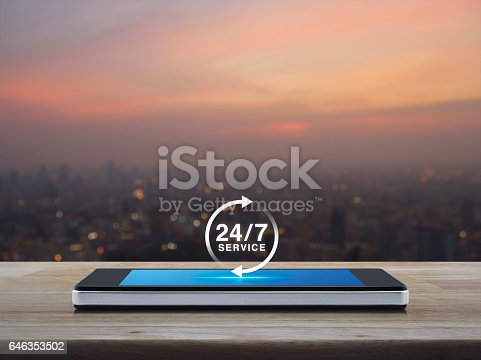 istock Full time service concept 646353502
