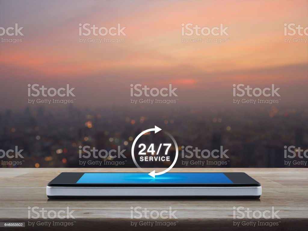 Full time service concept stock photo