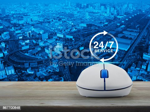 istock Full time service concept 867700848