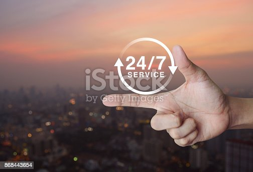istock Full time service concept 868443654