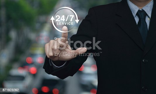 istock Full time service concept 871923262