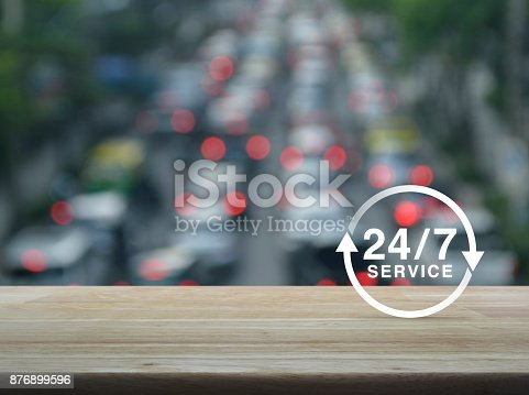 istock Full time service concept 876899596