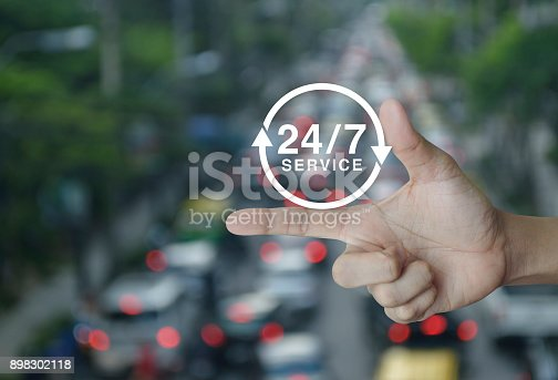 istock Full time service concept 898302118