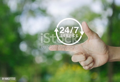 istock Full time service concept 916807722