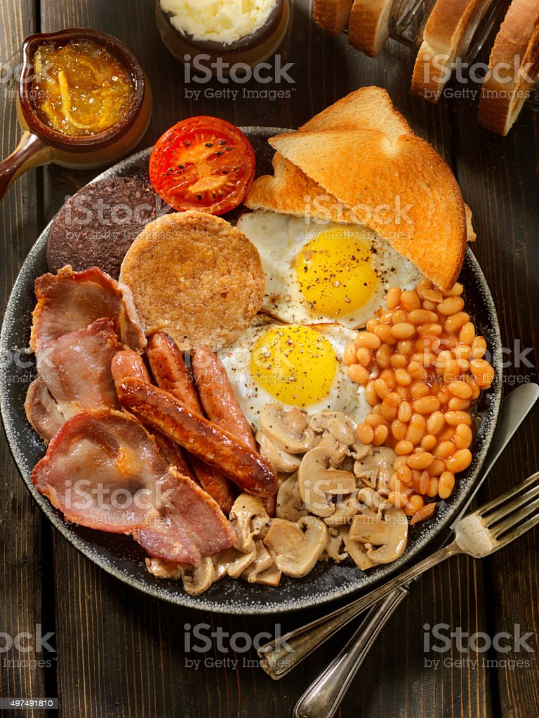 Full Traditional English Breakfast stock photo